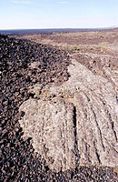 Craters of the Moon National Monument. Periodic volcanic eruptions have produced different types of lava flows. Idaho. USA