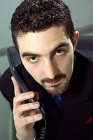 Close-up of a businessman on the telephone