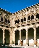 Plateresque cloister of Colegio de San Gregorio, now Museo Nacional de Escultura (National Museum of Sculpture). Valladolid, Spain