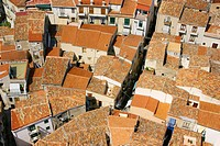 Roof tops in Cefalu. Sicily. Italy