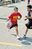 4 on 4 Co ed, city sponsored basketball tournament for ages from 8 to 14