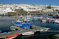 Harbour in Puerto del Carmen on Lanzarote. Spain