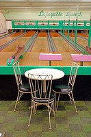 Candlepin Bowling alley. Amesbury. Massachusetts, USA