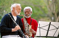 mixed racial street musicians