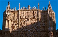 Plateresque facade of Colegio de San Gregorio, now Museo Nacional de Escultura (National Museum of Sculpture). Valladolid, Spain