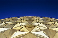 Geodesic dome roof, a feature of contemporary architecture seen here on the Pioneer Theatre, USA. The geodesic dome was invented by Richard Buckminste...