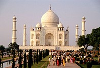 Taj Mahal on Friday, free day to public. Agra. India