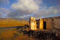 Abandoned farmhouse. Fuerteventura, Canary Islands. Spain