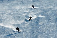 People skiing in the mountain