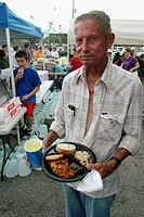 Free food and water for victims, Hurricane Charley damage. Punta Gorda. Charlotte County, Florida, USA