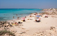 Migjorn Beach. Formentera. Balearic Islands. Spain.