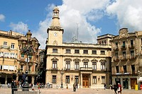 Town Hall at Plaça del Mercadal. Reus. Tarragona province, Spain