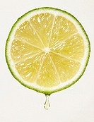 Lemon with drop of juice