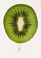 Kiwi with drop of juice