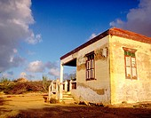 Small house in the non tourist area of Aruba. Cross on the Hill. Dutch Antilles
