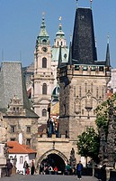 Charles Bridge Tower, St. Nicholas Church. Prague. Czech republic.