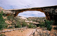Owachomo Bridge. Natural Bridges National Monument. Utah. USA.