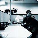 Man at office desk