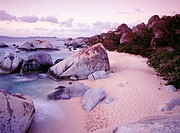 The Baths National Park at dusk. Virgin Gorda Island. British Virgin Islands. West Indies. Caribbean