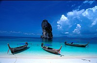 Boats at Krabi-Koh Lanta, Thailand