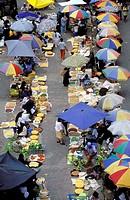 A view over the Otavalo market. Otavalo, Ecuador.