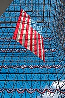 American flag. John F. Kennedy Library. Boston, Massachusetts. USA.