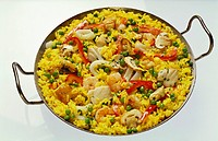 Paella in the Pan