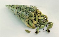 Cardamom in cellophane bag