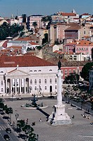 D. Maria II National Theatre at Rossio Square. Lisbon. Portugal