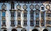 Germany, Bavaria, Wasserburg, Paulaner Hotel, rococo façade
