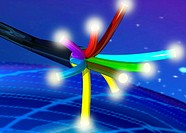 Illustration, optical fiber