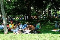 People, park, Sunday