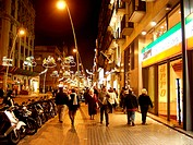 People, Shopping, night