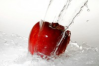 Liquid, water, apple