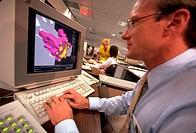 Advanced aerospace CAD-CAM design at Irvine, California.