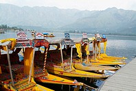House Boats, Dal Lake, Srinagar, Kashmir, India