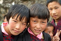 School girls, Haa, Bhutan