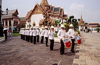 Marching band plays at the Grand Palace. Bangkok. Thailand