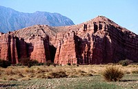 Red mountain near Cafayate. Argentina