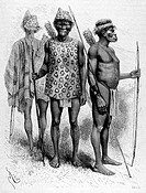 Chiriguano indians, engraving from 'Le tour du monde'