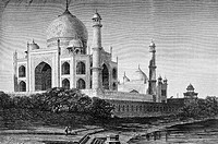 Taj Mahal, engraving from 'Le tour du monde'