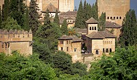 Alhambra and Alcazaba complex. Granada. Andalusia, Spain