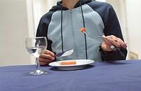 Karotte zum Mittag