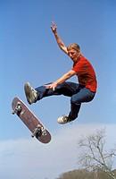 Skater verliert Skateboard
