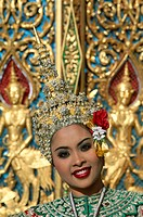 Asia, Bangkok, Costume, Dancing, Girl, Holiday, Landmark, Model, Released, Thailand, Tourism, Traditional, Travel, Vacation,