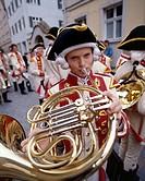 Bavaria, Boy, Children´s, Dinkelsbuhl, Festival, Germany, Europe, Holiday, Horn, Kinderzeche, Landmark, Playing, Road, Romantic,