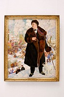 Portrait of Mr Fiodor Shalyapin, painting by Boris Kustodiev (1922)