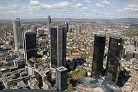 Bank buildings. Frankfurt am Main. Germany