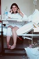 HOSPITAL DIET, WOMAN<BR>Model.