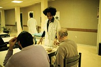 PSYCHIATRY<BR>Photo essay from hospital.<BR>Distribution of medication during breakfast. Les Murets Psychiatric Hospital Center in the French region o...